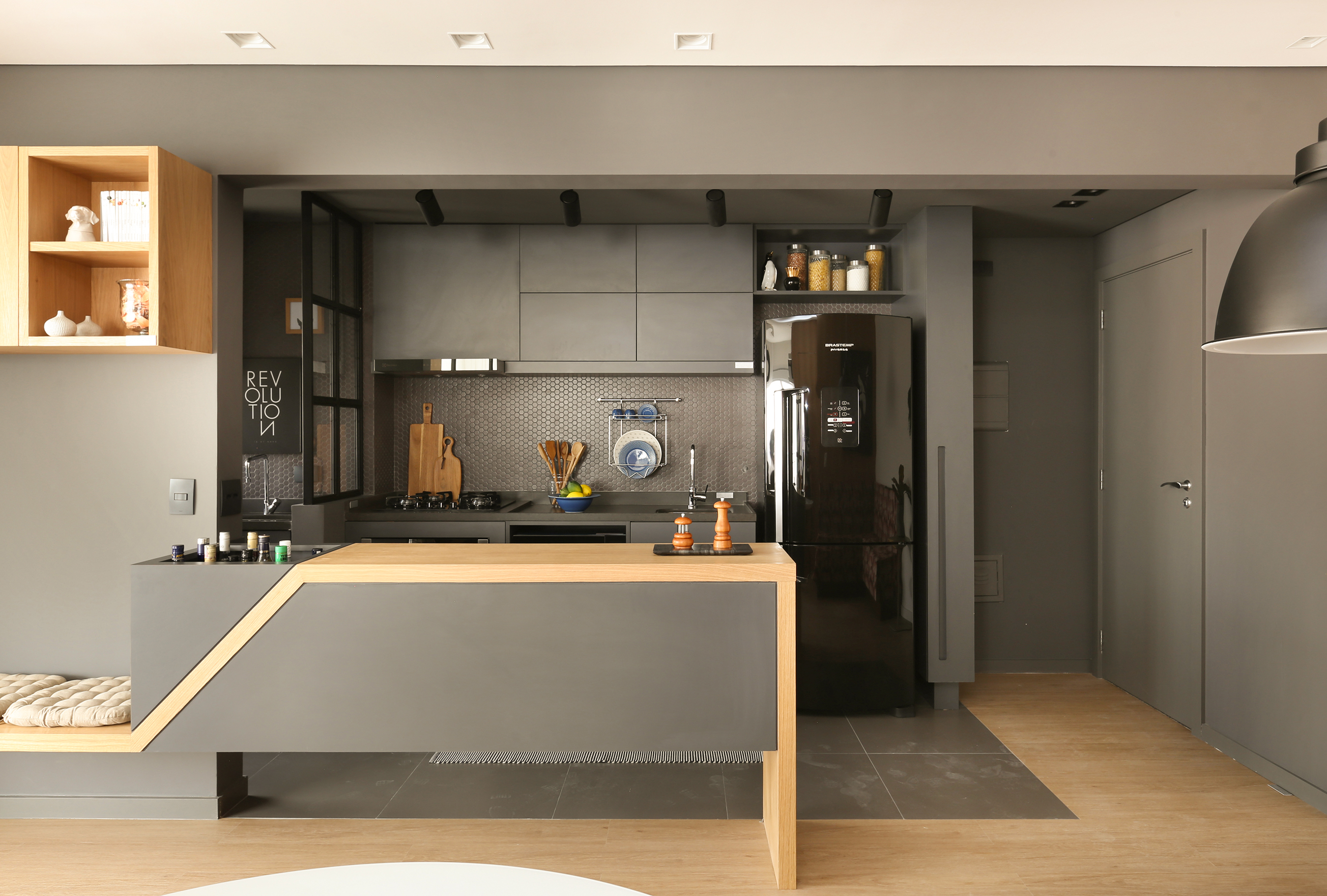 Cozinhas Estreitas Studio Side